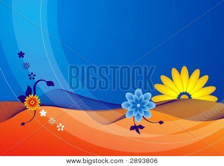 Blue Summer Flowers