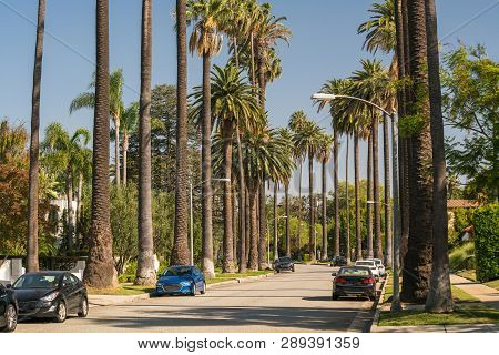Streets Of Beverly Hills In California