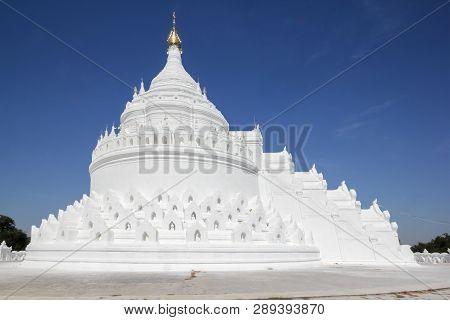 The White Pagoda In Mingun - Hsinbyume (mya Thein Dan Pagoda ) Paya Temple, Myanmar