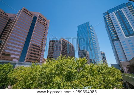 Financial District Area Of Downtown Phoenix  Arizona