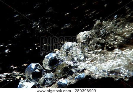 Energizing Picture, Crystals Clear Water With Real Crystals Like Jewellery. Dark Part In Top Makes C