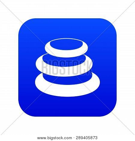 Stack Of Basalt Balancing Stones Icon Digital Blue For Any Design Isolated On White Vector Illustrat