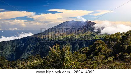 Scenic view of Turrialba Volcano in Cartago, Costa Rica