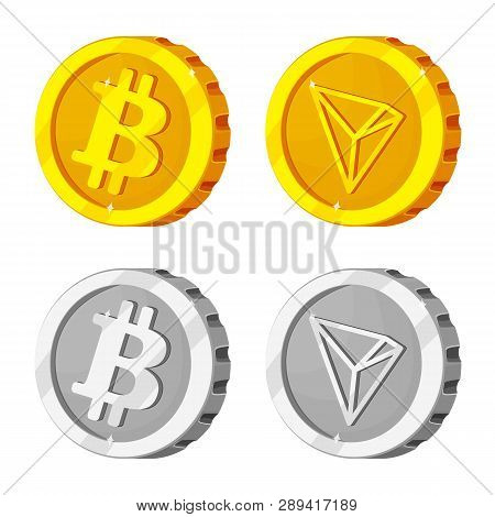 Vector Illustration Of Cryptocurrency And Coin Symbol. Set Of Cryptocurrency And Crypto Stock Symbol