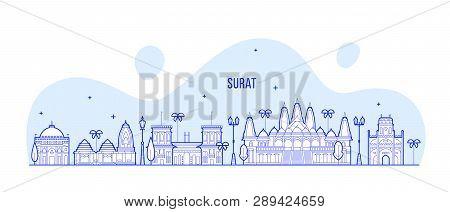 Surat Skyline Gujarat Vector Photo Free Trial Bigstock