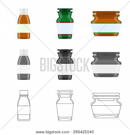 Vector Illustration Of Retail And Healthcare Logo. Collection Of Retail And Wellness Stock Vector Il