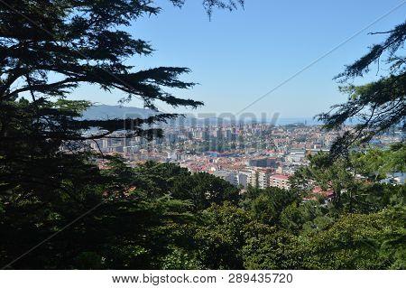 Views Of The City Of Vigo From El Monte Del Castro. Nature, Architecture, History, Travel. August 16
