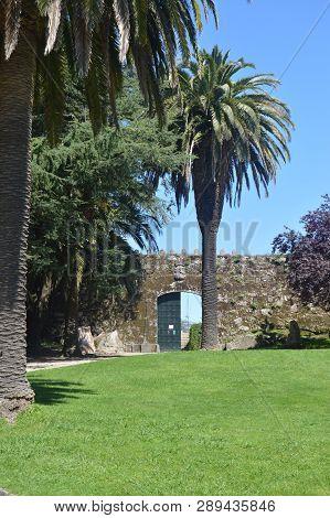 Entrance To The Castle Of San Sebastian Located In The Mountain Of Castro In Vigo. Nature, Architect