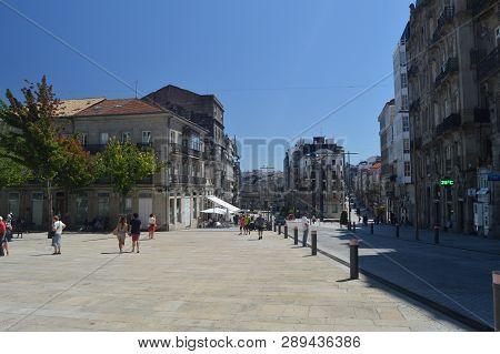 Sun Square In Vigo. Nature, Architecture, History, Travel. August 16, 2014. Vigo, Pontevedra, Galici