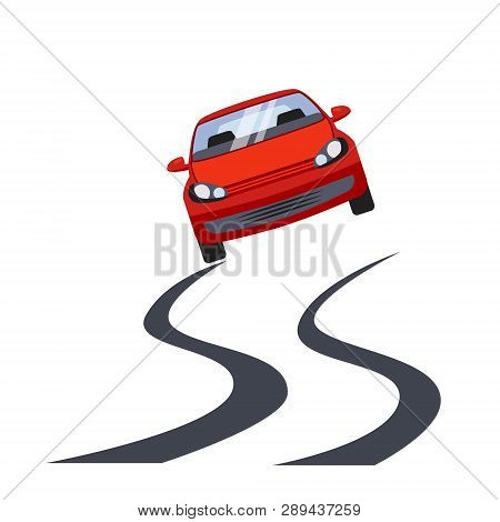 Car Insurance And Unsafe Drive Risk Vector Illustration
