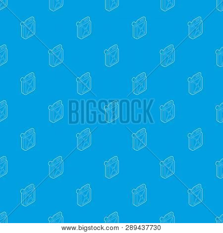 Jerrycan Pattern Vector Seamless Blue Repeat For Any Use