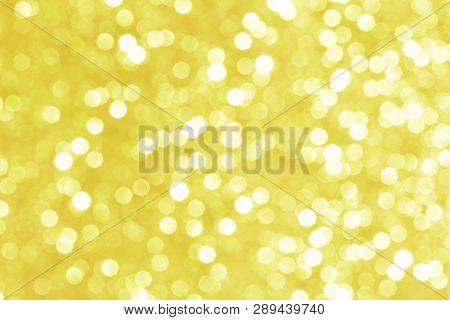 Bright Golden Background With Effect Bokeh For Advertising And Publications