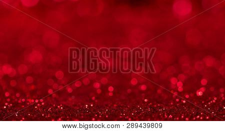Bright Beautiful Sparkling Red Background With Bokeh Effect For Advertising And Social Media Posts