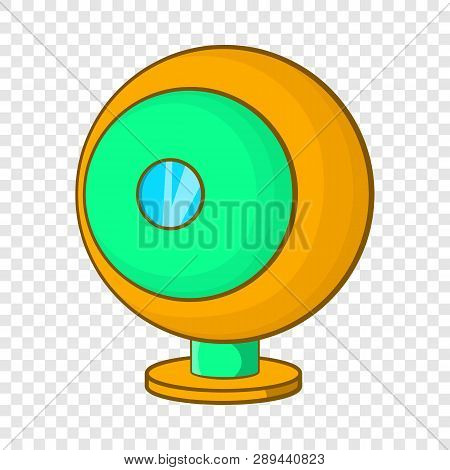 Webcam icon in cartoon style isolated on background for any web design poster