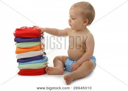 baby with diaper