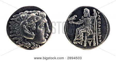 Greek Silver Tetradrachm From Alexander The Great