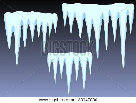 Vector illustration of icicles