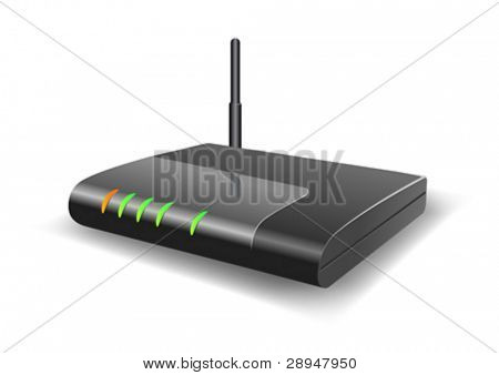 Vector illustration of a Wireless Router.