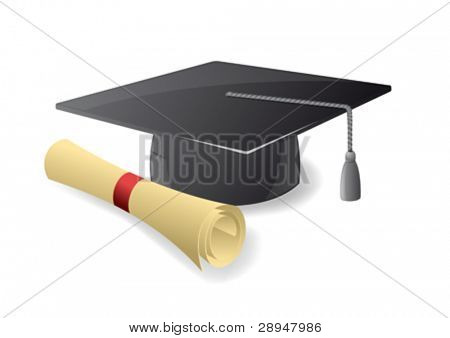 Graduation hat. Mortar board