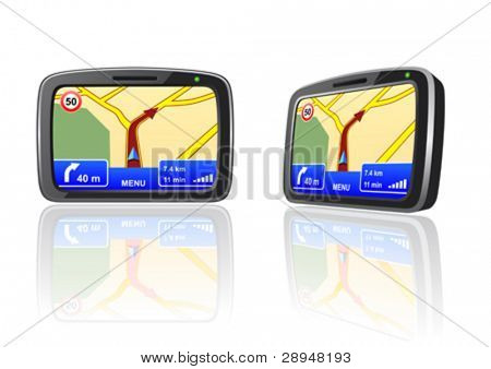 Vector illustration of a GPS navigation device
