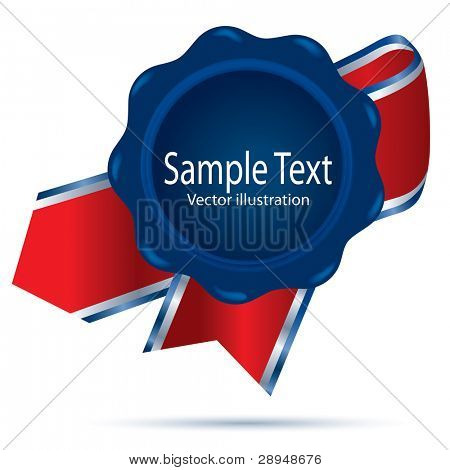 vector illustration of the blue wax with ribbon