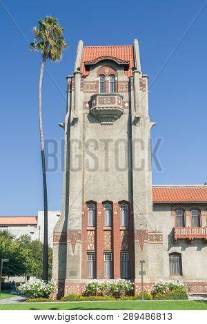 Tower Hall And Washington Square At San Jose State University