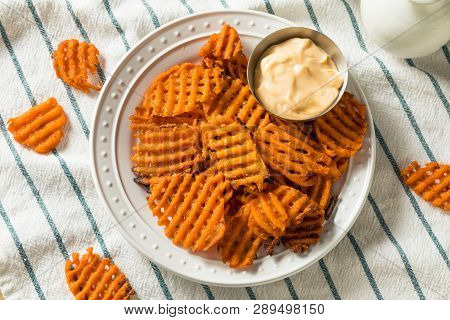 Homemade Sweet Potatoe Waffle Fries