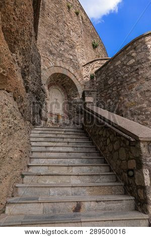 Stairs To The Monastery Of Varlaam Of The Meteora Eastern Orthodox Monasteries Complex In Kalabaka,