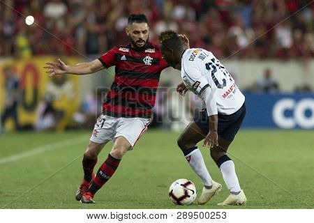 Rio, Brazil - March 13, 2019: Para Player In Match Between Flamengo (bra) And Ldu (ecu) By The Liber