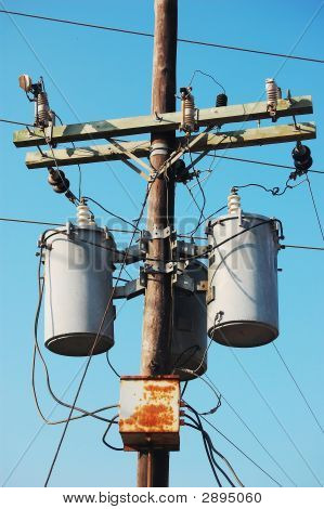 Electrical Post With Transformer