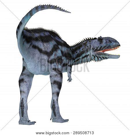 Majungasaurus Dinosaur Tail 3d Illustration - Majungasaurus Was A Carnivorous Theropod Dinosaur That