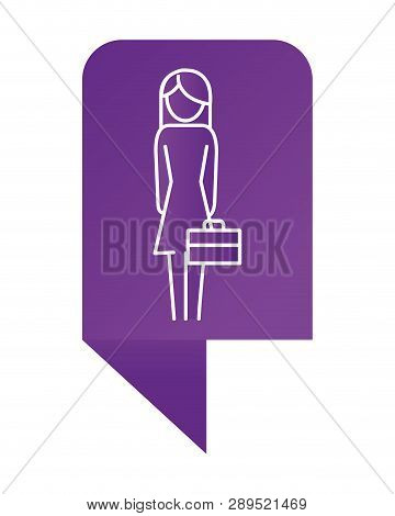 Infographic Layout Woman Pictogram Holding Suitcase Cartoon Vector Illustration Graphic Design
