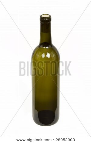 Bottle of Wine Isolated on a White Background