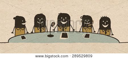 Black cartoon Conference Team