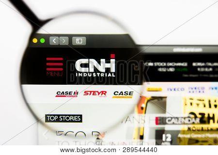 Los Angeles, California, Usa - 13 March 2019: Illustrative Editorial, Cnh Industrial Website Homepag