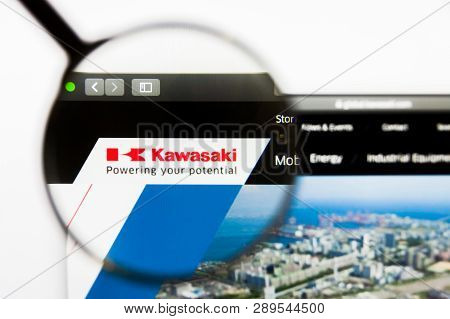 Los Angeles, California, Usa - 13 March 2019: Illustrative Editorial, Kawasaki Heavy Industries Webs