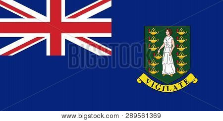 Flag Of British Virgin Islands In Official Rate And Colors, Vector.