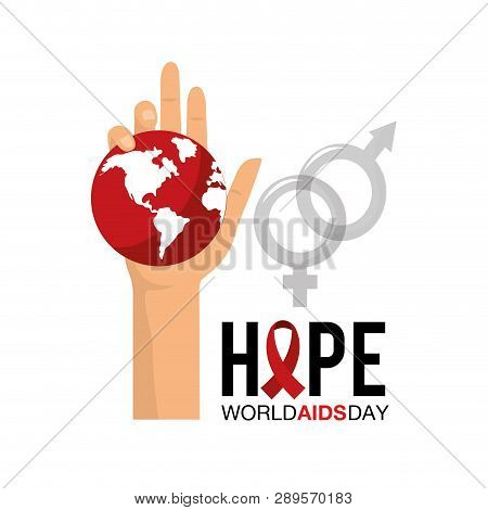 World Aids Day Prevention Campaign Vector Illustration