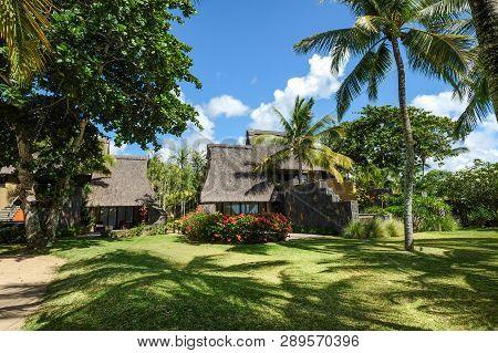 Wooden Resort With Coconut Garden