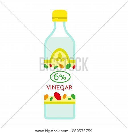 6 Percent Vinegar Icon. Flat Illustration Of 6 Percent Vinegar Vector Icon For Web Design