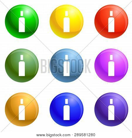High Density Polyethylene Icons Vector 9 Color Set Isolated On White Background For Any Web Design