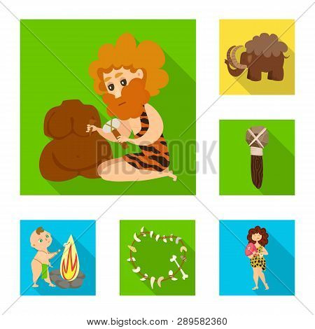 Vector illustration of evolution  and prehistory icon. Set of evolution  and development  stock symbol for web. poster