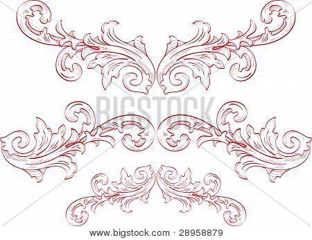 Ornate Flawers.