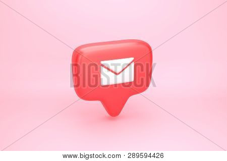 One Message Social Media Notification With Letter Icon