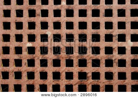 Lattice Texture Of Metal Plate