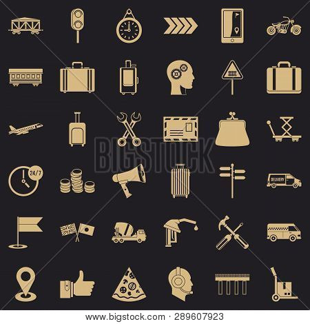 Pay For Delivery Icons Set. Simple Style Of 36 Pay For Delivery Vector Icons For Web For Any Design