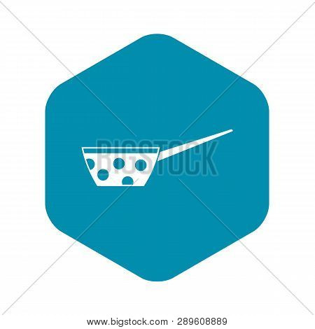 Pot With White Dots And Handle Icon In Simple Style Isolated Vector Illustration