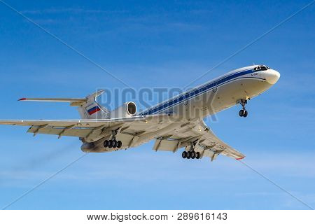 Moscow, Russia - March 14, 2019: Aircraft Tupolev Tu-154m Ra-85084 Of Russian Federation Air Force G