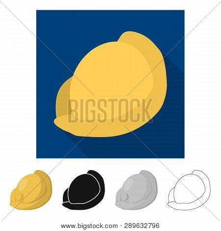 Isolated Object Of Ravioli  And Pierogi Logo. Collection Of Ravioli  And Pelmeni  Vector Icon For St