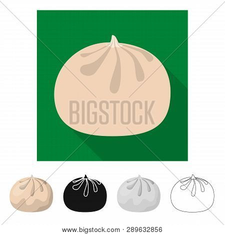 Isolated Object Of Baozi And Khinkali  Sign. Collection Of Baozi And Breakfast  Stock Vector Illustr
